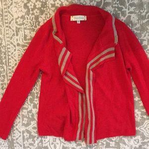 criss Cross S Red drape Cardigan Sweater